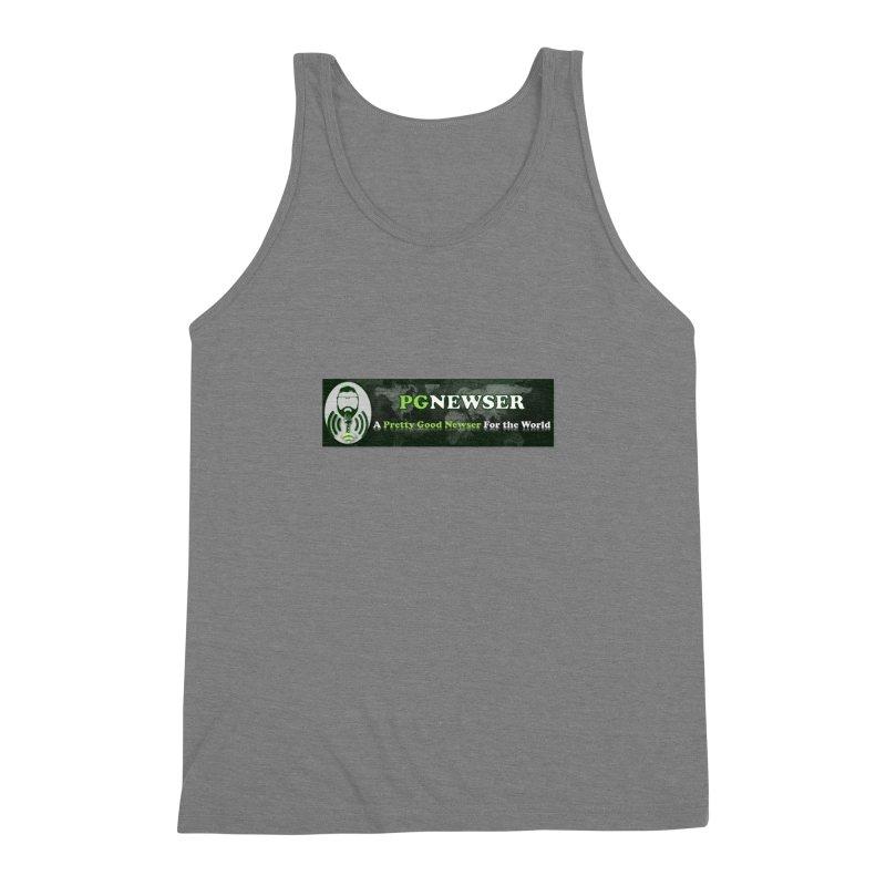 PG Newser Label Men's Triblend Tank by PGMercher  - A Pretty Good Merch Shop