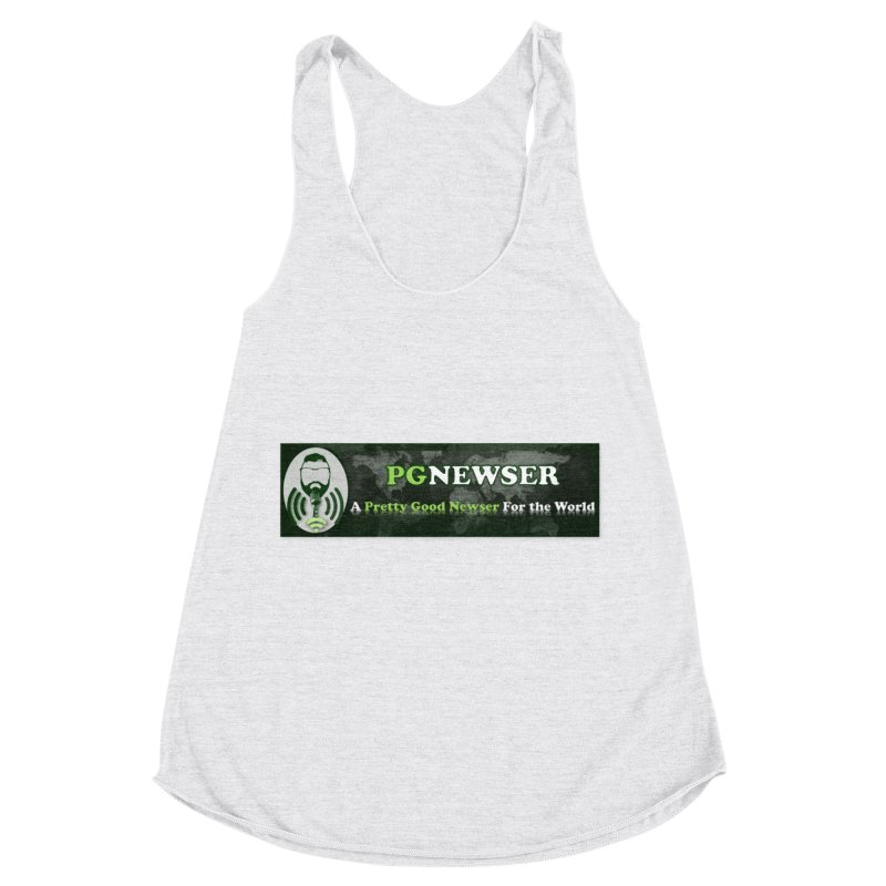 PG Newser Label Women's Racerback Triblend Tank by PGMercher  - A Pretty Good Merch Shop