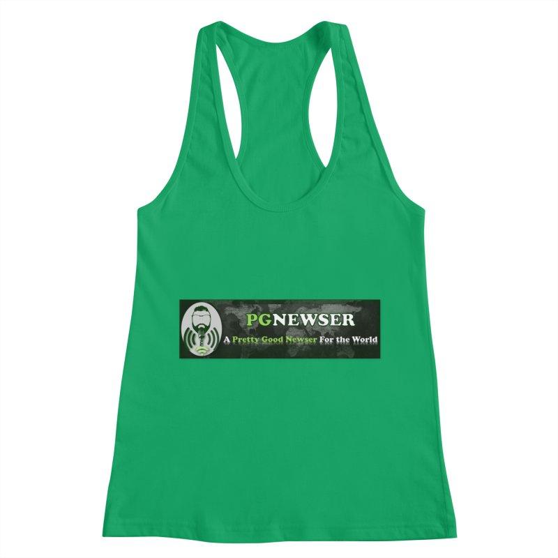 PG Newser Label Women's Racerback Tank by PGMercher  - A Pretty Good Merch Shop
