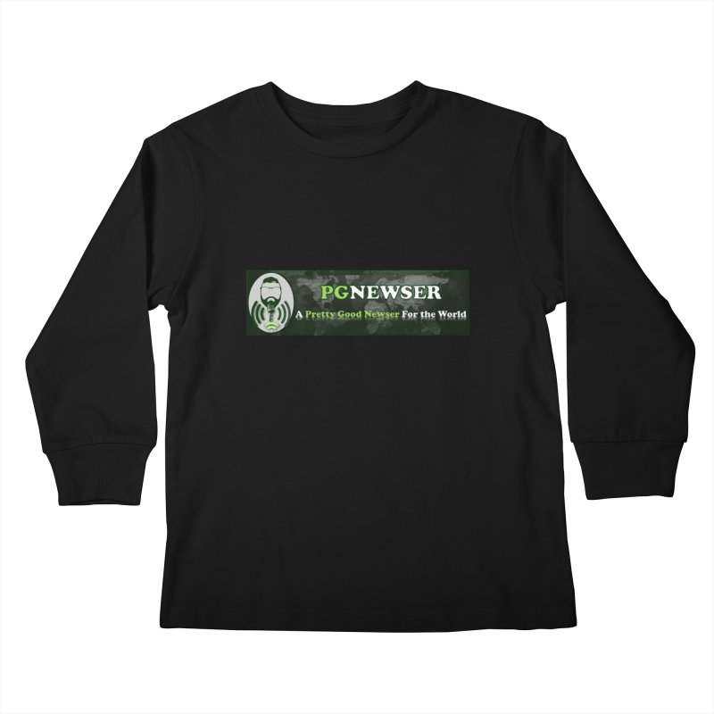 PG Newser Label Kids Longsleeve T-Shirt by PGMercher  - A Pretty Good Merch Shop