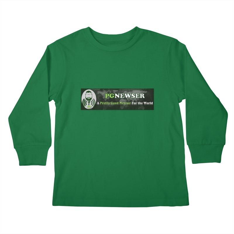 PG Newser Label Kids Longsleeve T-Shirt by PGMercher  - A Pretty Good Merch Shop