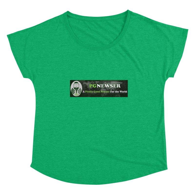 PG Newser Label Women's Scoop Neck by PGMercher  - A Pretty Good Merch Shop
