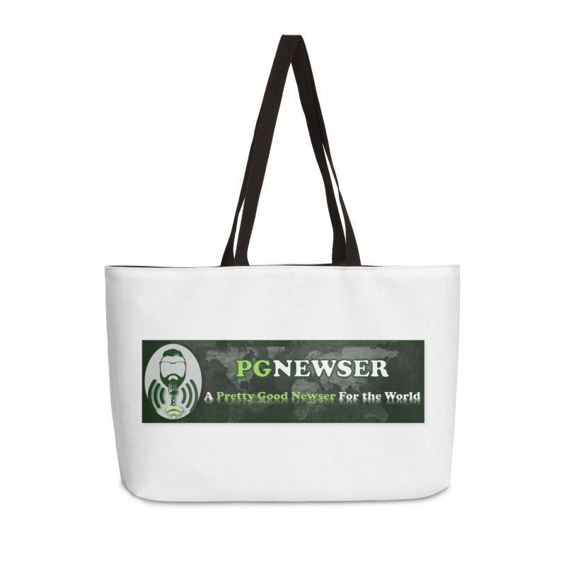 PG Newser Label Accessories Weekender Bag Bag by PGMercher  - A Pretty Good Merch Shop