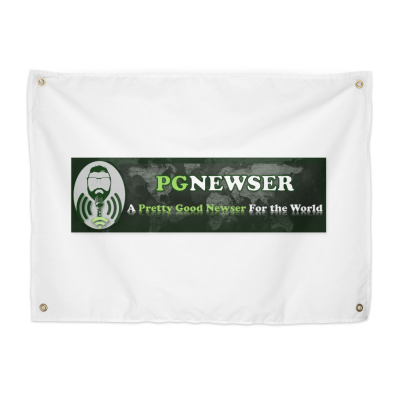PG Newser Label Home Tapestry by PGMercher  - A Pretty Good Merch Shop
