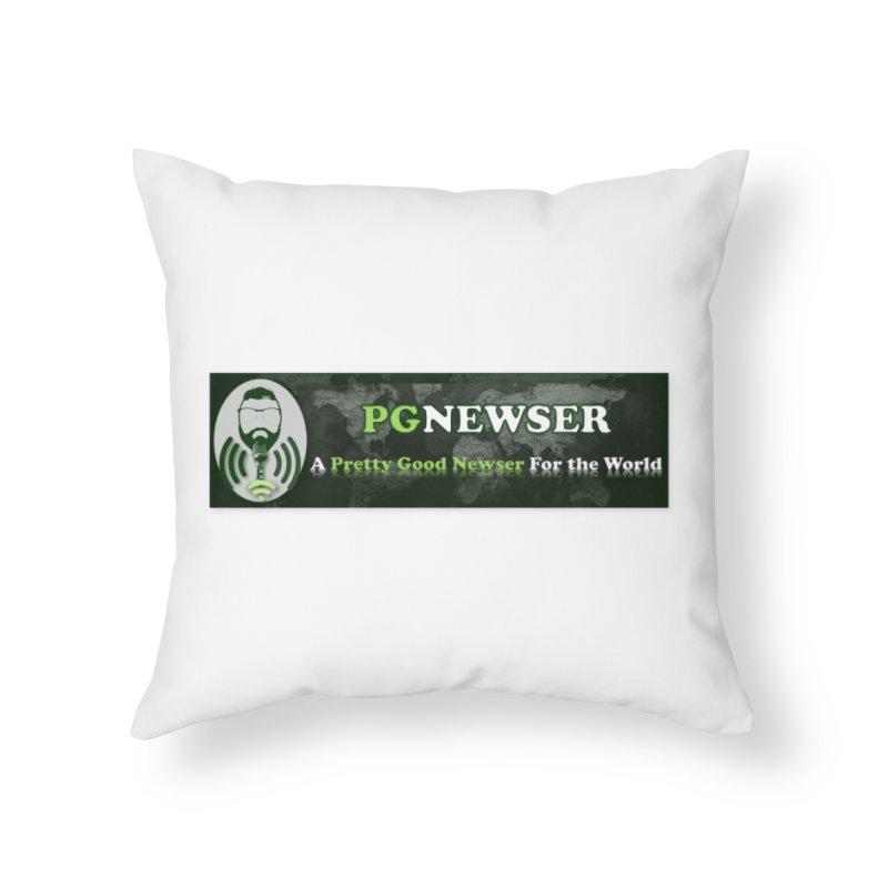PG Newser Label Home Throw Pillow by PGMercher  - A Pretty Good Merch Shop