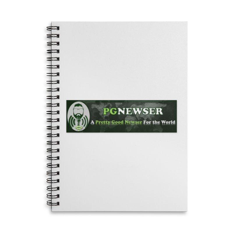 PG Newser Label Accessories Notebook by PGMercher  - A Pretty Good Merch Shop
