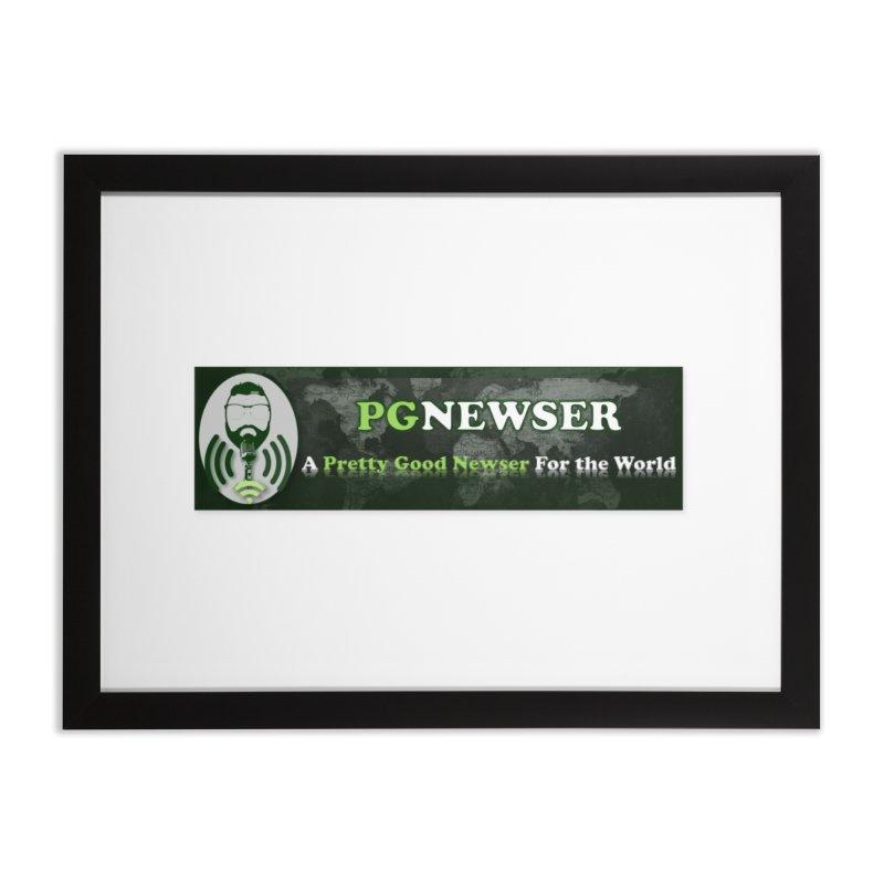 PG Newser Label Home Framed Fine Art Print by PGMercher  - A Pretty Good Merch Shop