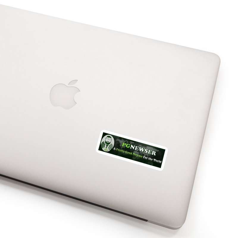 PG Newser Label Accessories Sticker by PGMercher  - A Pretty Good Merch Shop