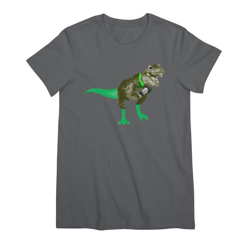 Lulzard the Lulzilla Lizard Women's Premium T-Shirt by PGMercher  - A Pretty Good Merch Shop