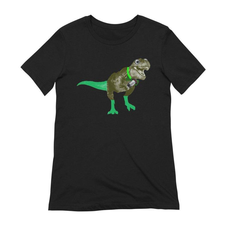 Lulzard the Lulzilla Lizard Women's Extra Soft T-Shirt by PGMercher  - A Pretty Good Merch Shop