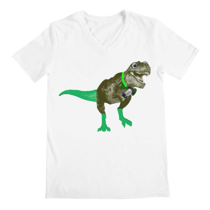 Lulzard the Lulzilla Lizard Men's V-Neck by PGMercher  - A Pretty Good Merch Shop