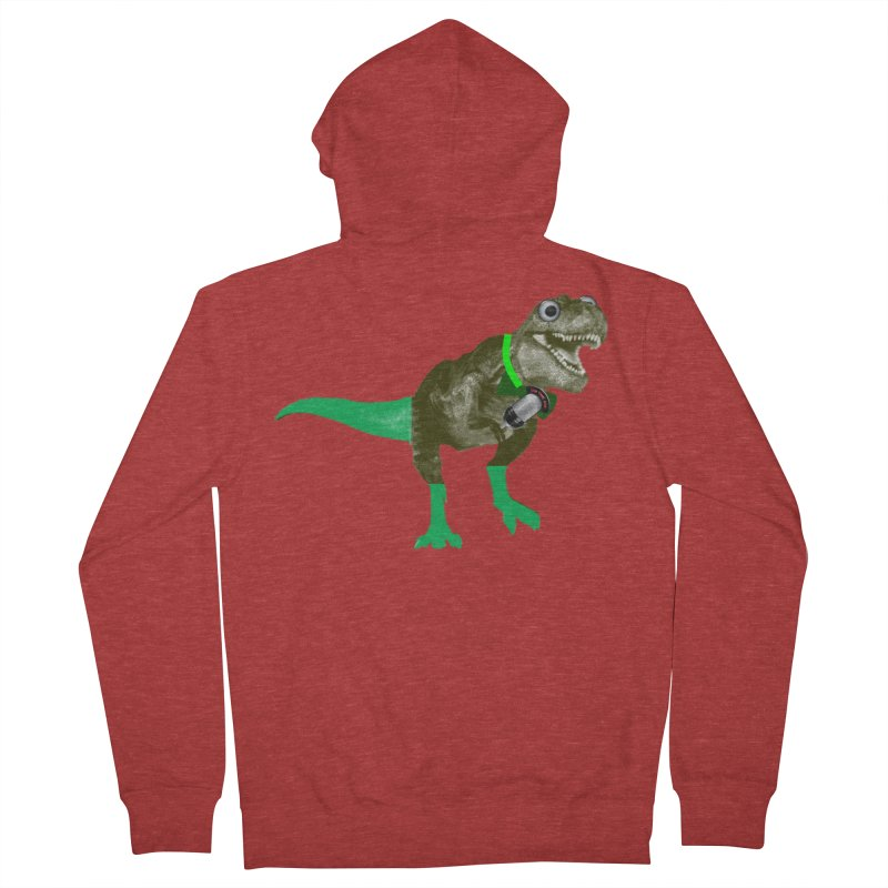 Lulzard the Lulzilla Lizard Men's French Terry Zip-Up Hoody by PGMercher  - A Pretty Good Merch Shop