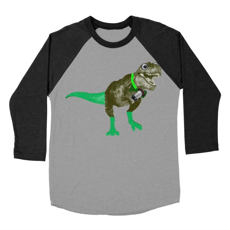 Lulzard the Lulzilla Lizard Men's Baseball Triblend Longsleeve T-Shirt by PGMercher  - A Pretty Good Merch Shop