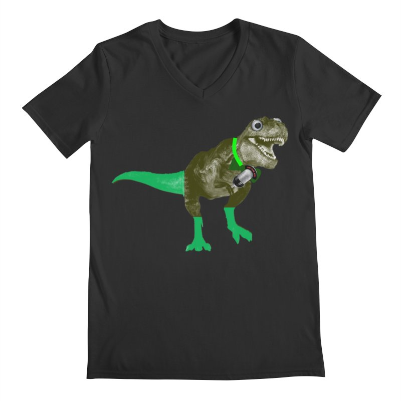 Lulzard the Lulzilla Lizard Men's Regular V-Neck by PGMercher  - A Pretty Good Merch Shop