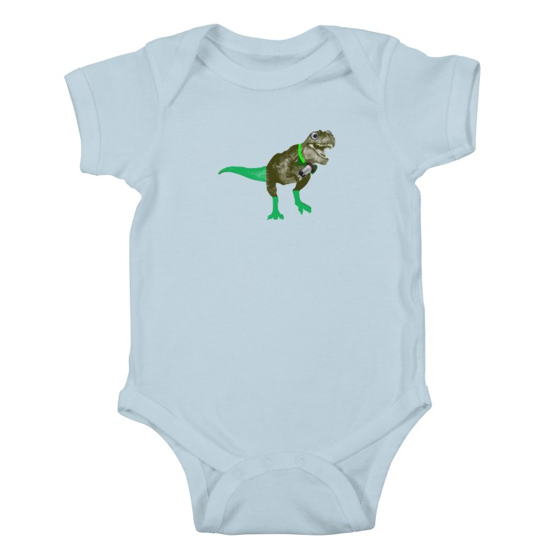 Lulzard the Lulzilla Lizard Kids Baby Bodysuit by PGMercher  - A Pretty Good Merch Shop