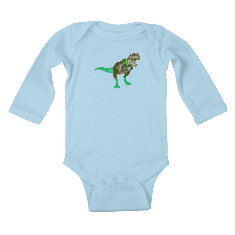 Lulzard the Lulzilla Lizard Kids Baby Longsleeve Bodysuit by PGMercher  - A Pretty Good Merch Shop