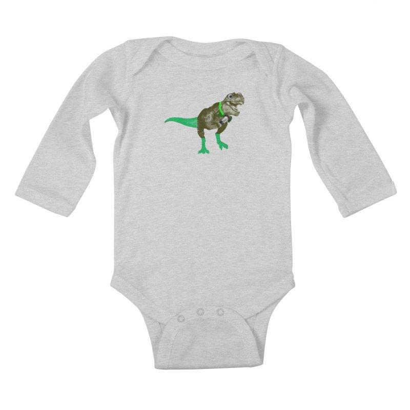 Lulzard the Lulzilla Lizard Kids Baby Longsleeve Bodysuit by PGMercher  - A Pretty Good Merch Shop