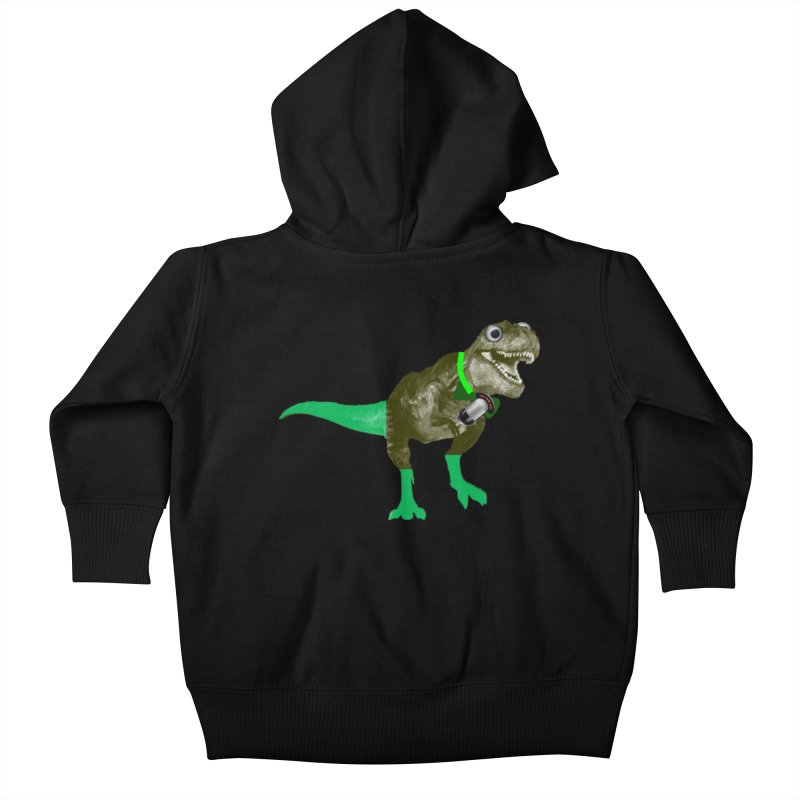 Lulzard the Lulzilla Lizard Kids Baby Zip-Up Hoody by PGMercher  - A Pretty Good Merch Shop