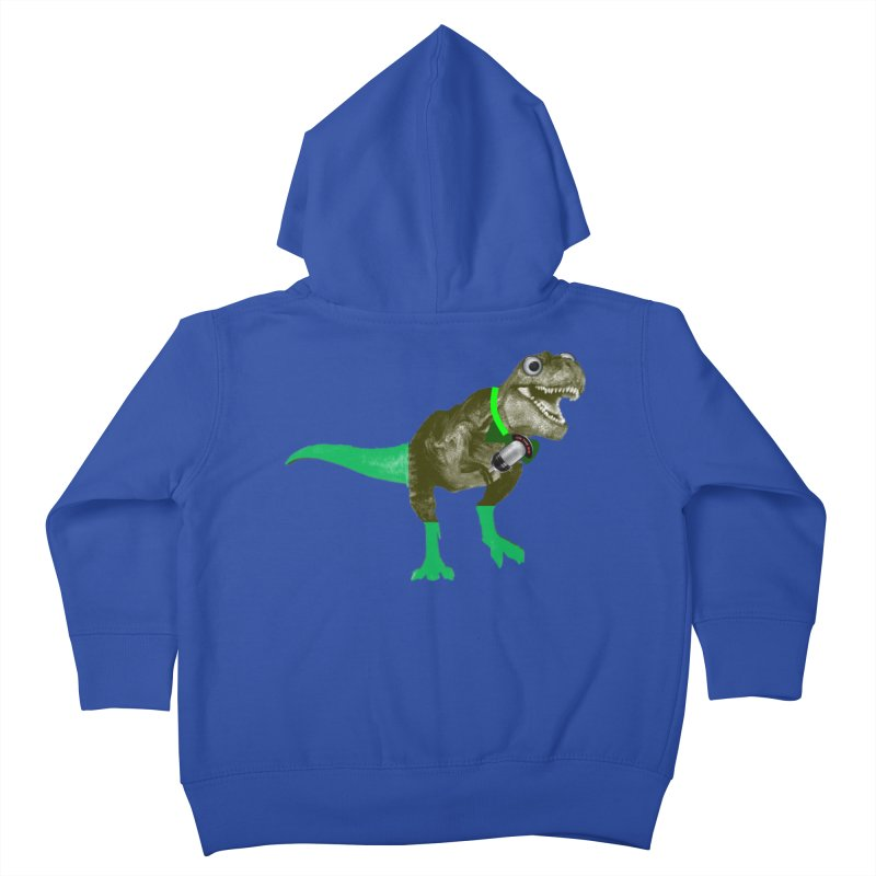 Lulzard the Lulzilla Lizard Kids Toddler Zip-Up Hoody by PGMercher  - A Pretty Good Merch Shop
