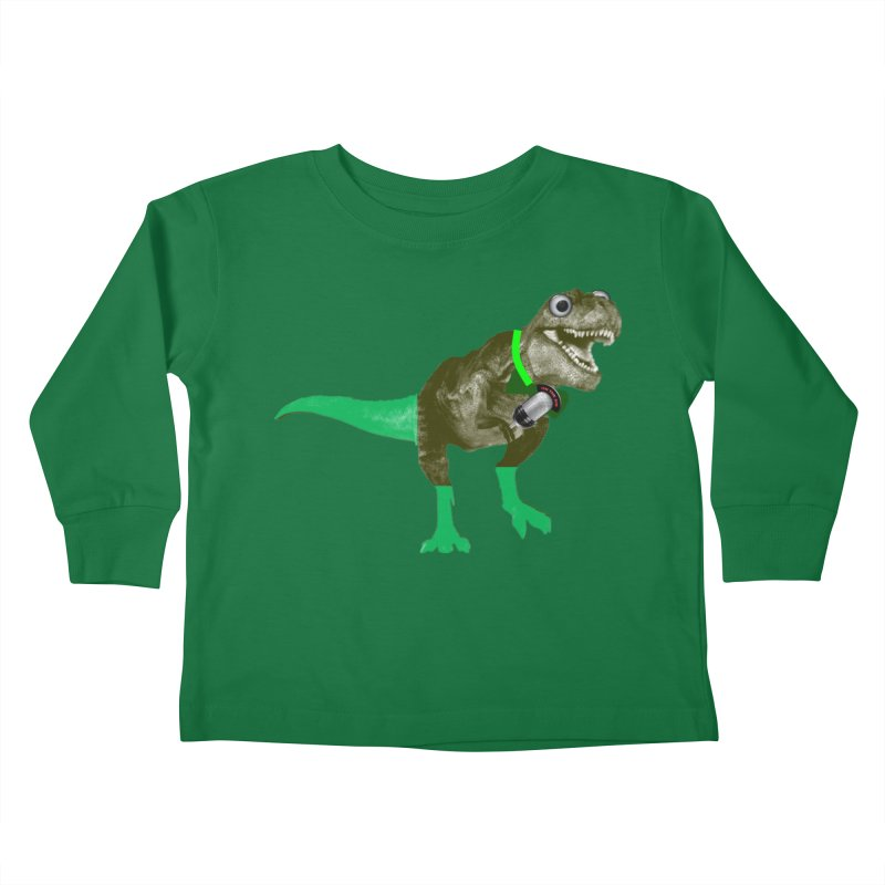 Lulzard the Lulzilla Lizard Kids Toddler Longsleeve T-Shirt by PGMercher  - A Pretty Good Merch Shop