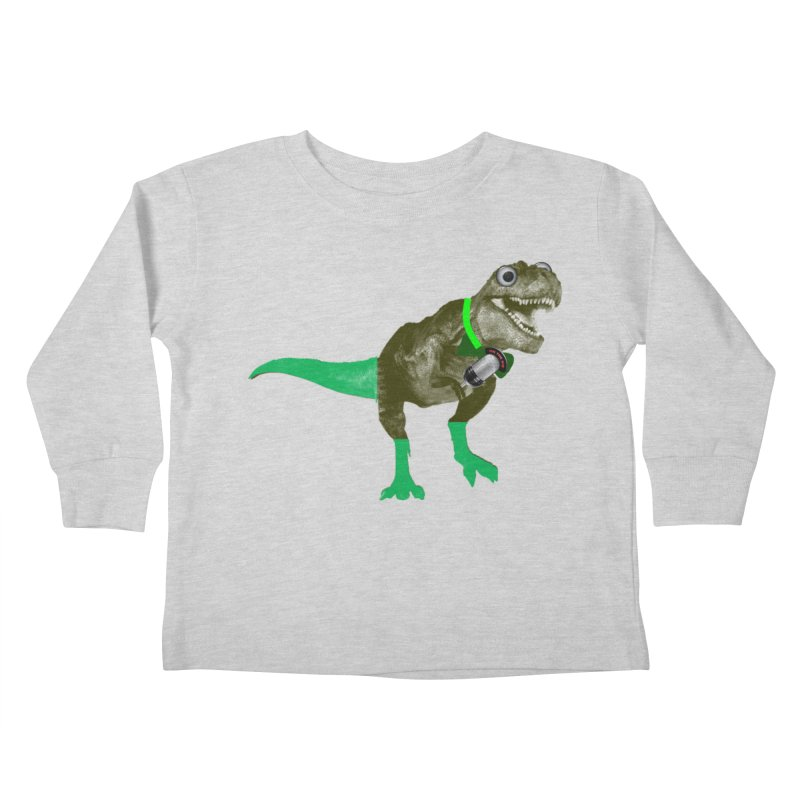 Lulzard the Lulzilla Lizard Kids Toddler Longsleeve T-Shirt by PGMercher  - A Pretty Good Merch Shop