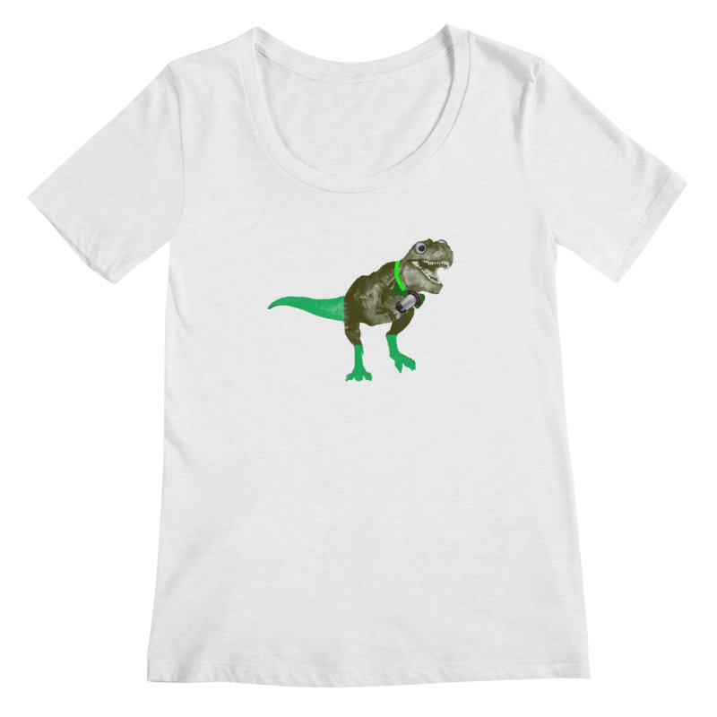 Lulzard the Lulzilla Lizard Women's Regular Scoop Neck by PGMercher  - A Pretty Good Merch Shop