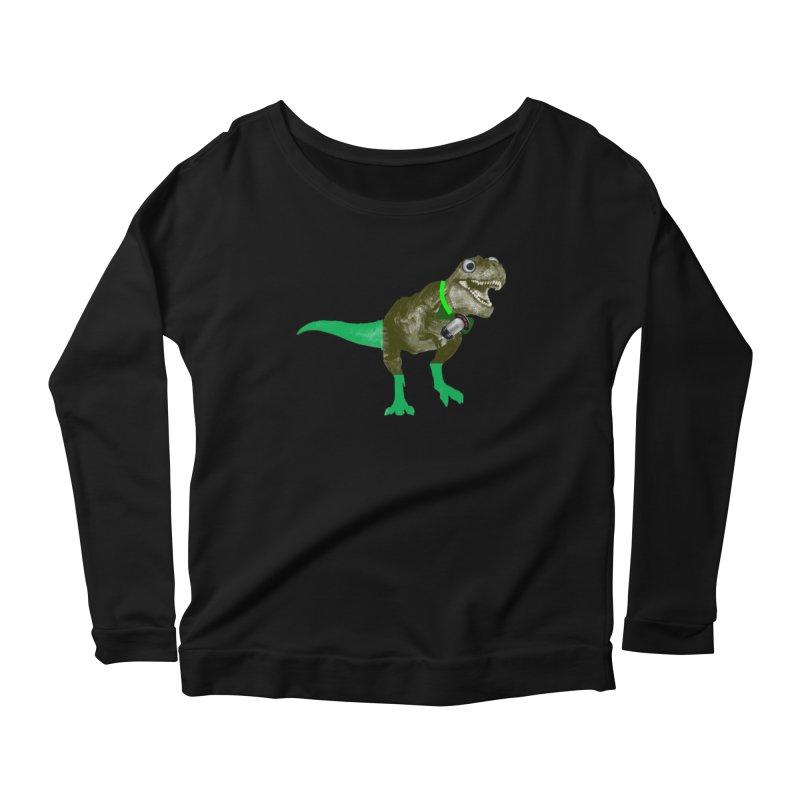 Lulzard the Lulzilla Lizard Women's Scoop Neck Longsleeve T-Shirt by PGMercher  - A Pretty Good Merch Shop