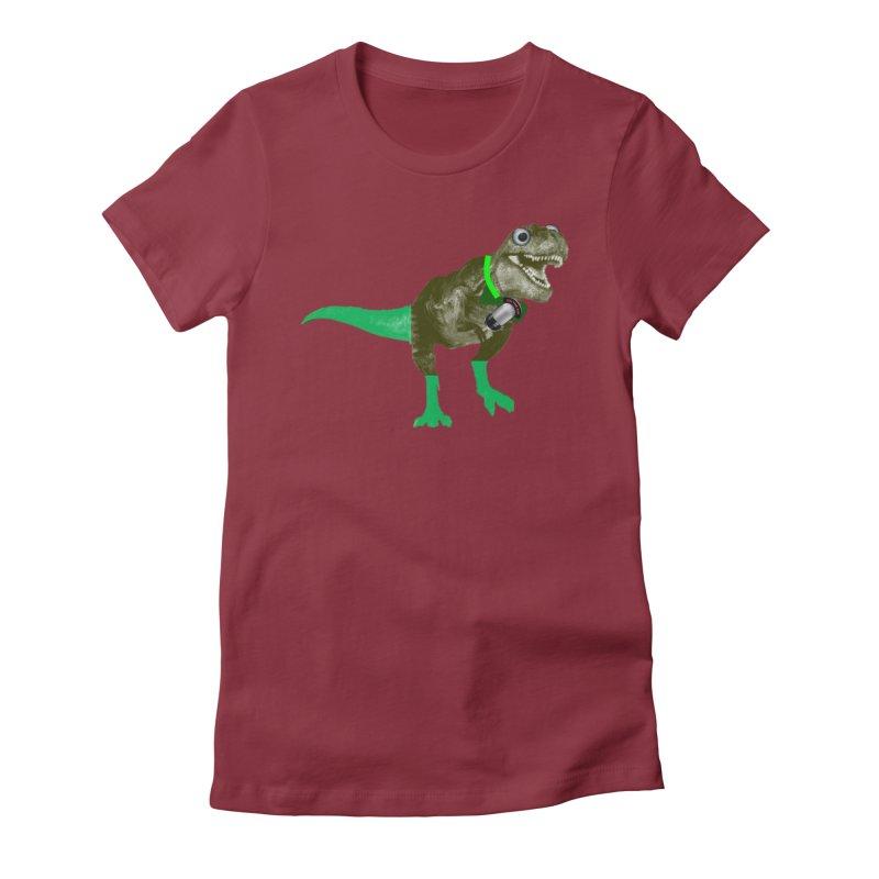 Lulzard the Lulzilla Lizard Women's Fitted T-Shirt by PGMercher  - A Pretty Good Merch Shop