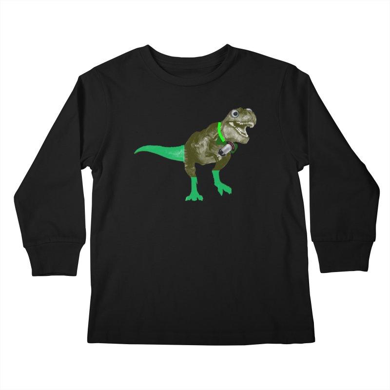 Lulzard the Lulzilla Lizard Kids Longsleeve T-Shirt by PGMercher  - A Pretty Good Merch Shop
