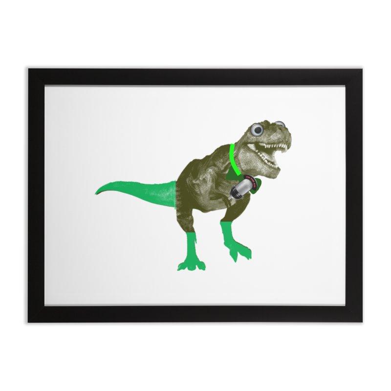Lulzard the Lulzilla Lizard Home Framed Fine Art Print by PGMercher  - A Pretty Good Merch Shop
