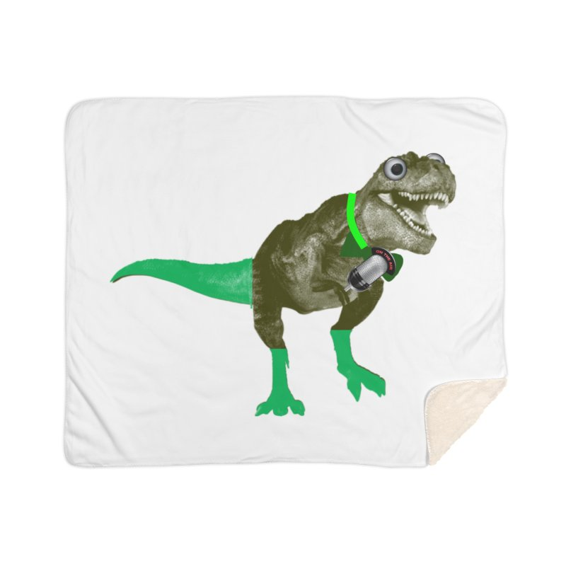 Lulzard the Lulzilla Lizard Home Sherpa Blanket Blanket by PGMercher  - A Pretty Good Merch Shop