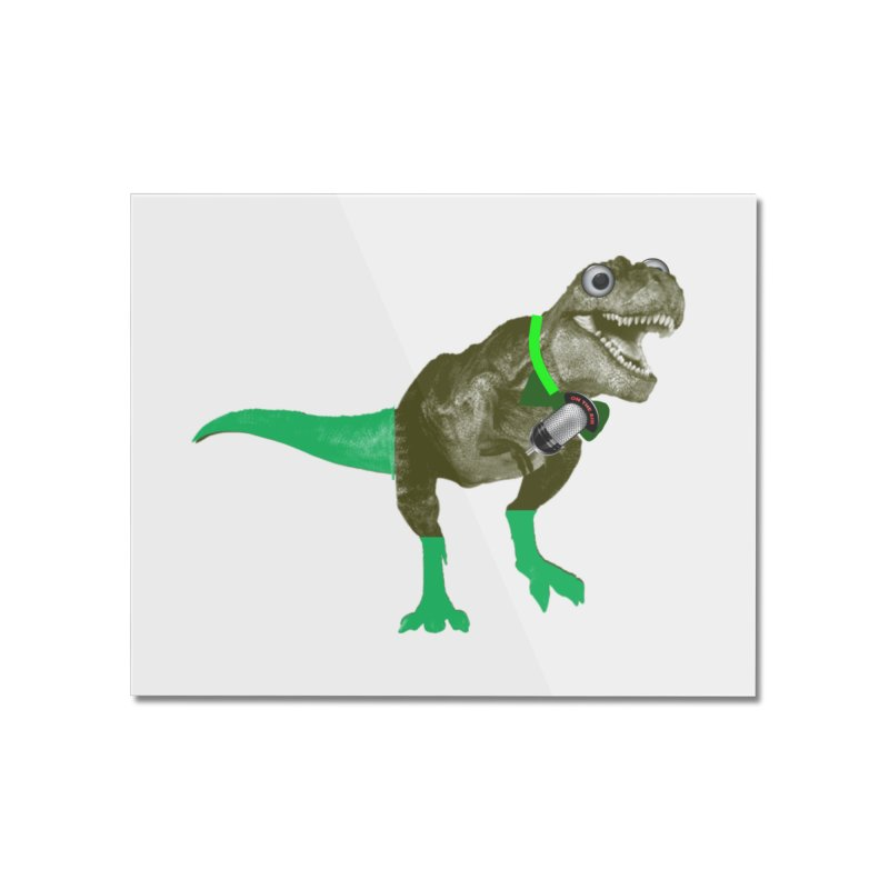 Lulzard the Lulzilla Lizard Home Mounted Acrylic Print by PGMercher  - A Pretty Good Merch Shop