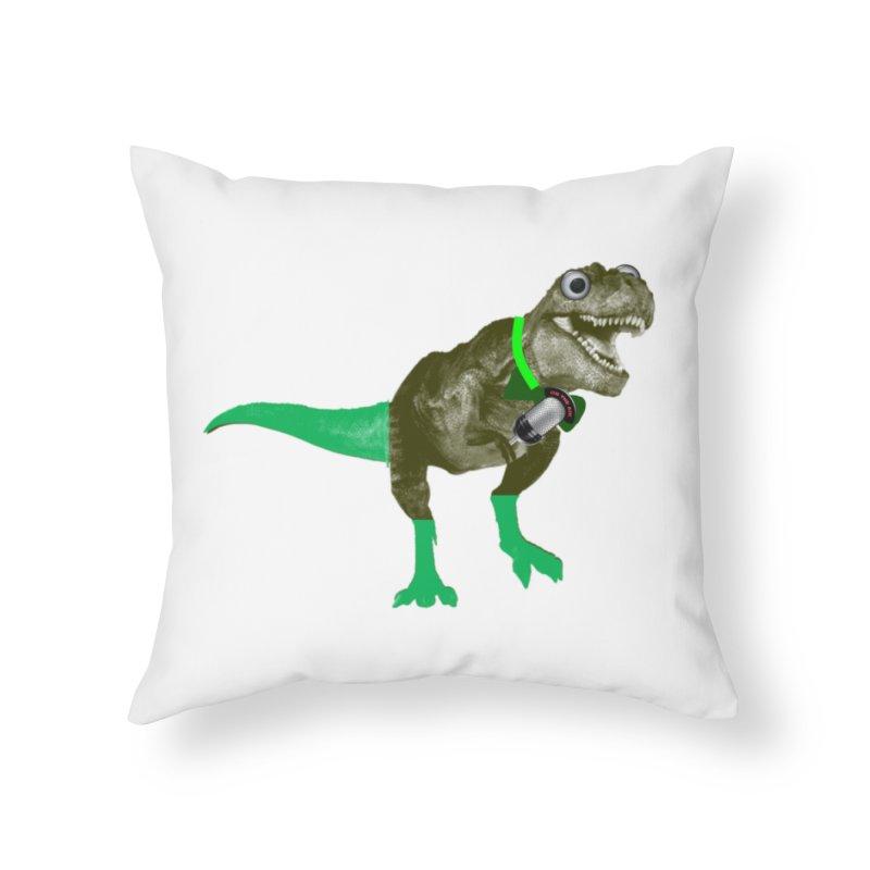 Lulzard the Lulzilla Lizard Home Throw Pillow by PGMercher  - A Pretty Good Merch Shop