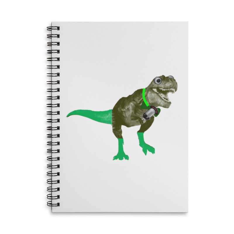 Lulzard the Lulzilla Lizard Accessories Lined Spiral Notebook by PGMercher  - A Pretty Good Merch Shop