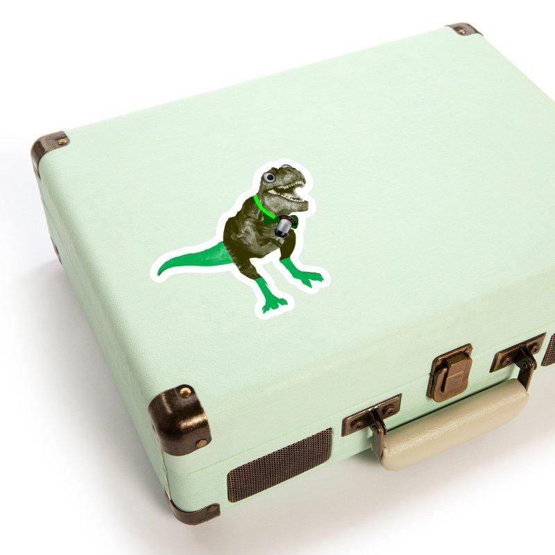 Lulzard the Lulzilla Lizard Accessories Sticker by PGMercher  - A Pretty Good Merch Shop
