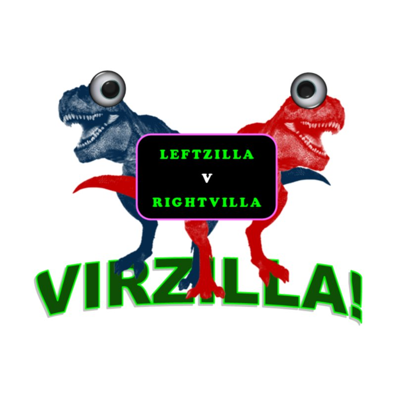 Virzilla Men's V-Neck by PGMercher  - A Pretty Good Merch Shop
