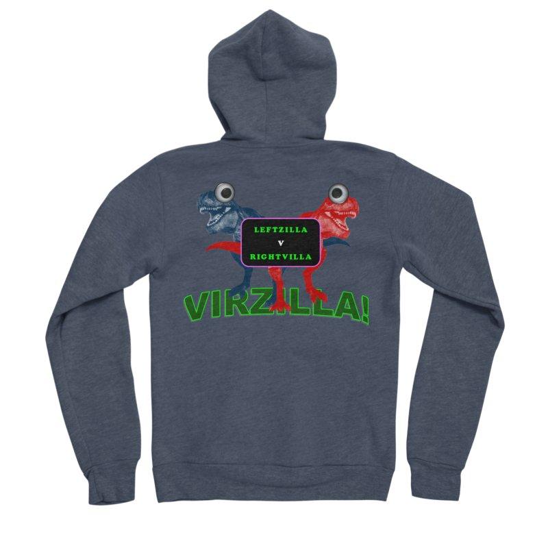 Virzilla Men's Sponge Fleece Zip-Up Hoody by PGMercher  - A Pretty Good Merch Shop