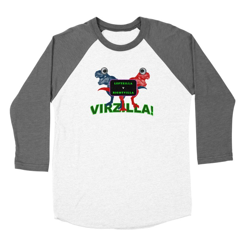 Virzilla Men's Baseball Triblend Longsleeve T-Shirt by PGMercher  - A Pretty Good Merch Shop