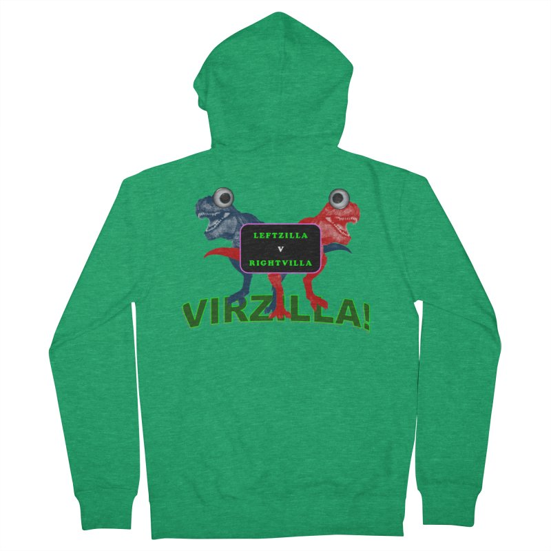 Virzilla Men's Zip-Up Hoody by PGMercher  - A Pretty Good Merch Shop