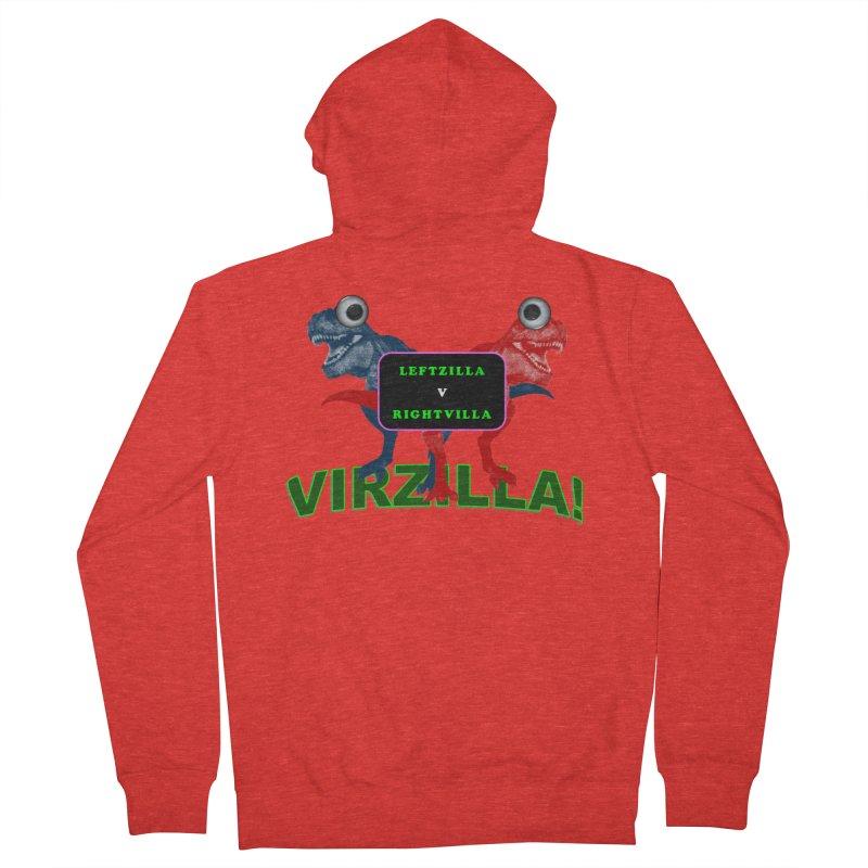 Virzilla Men's Zip-Up Hoody by PGMercher  - A Pretty Good Merch Shop