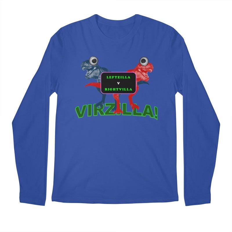 Virzilla Men's Regular Longsleeve T-Shirt by PGMercher  - A Pretty Good Merch Shop