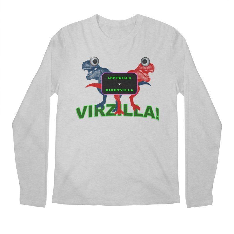 Virzilla Men's Regular Longsleeve T-Shirt by PGMercher  - A Pretty Good Merch Shop