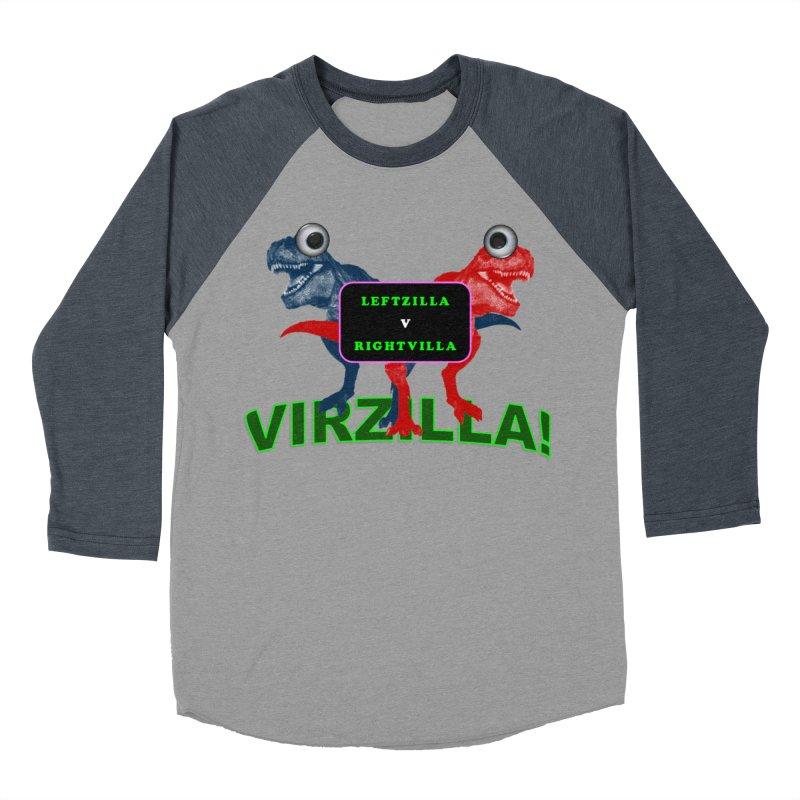 Virzilla Women's Baseball Triblend Longsleeve T-Shirt by PGMercher  - A Pretty Good Merch Shop