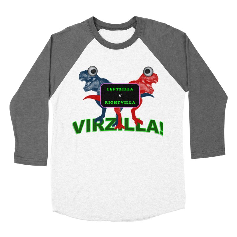 Virzilla Men's Baseball Triblend Longsleeve T-Shirt by PGMercher  - A Pretty Good Merch Shop