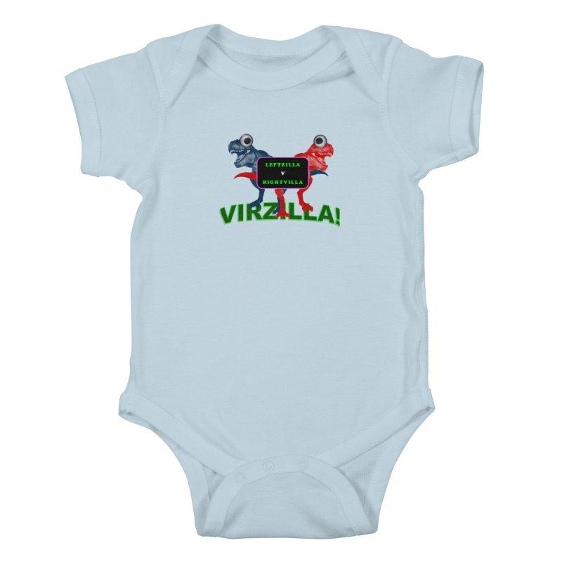 Virzilla Kids Baby Bodysuit by PGMercher  - A Pretty Good Merch Shop