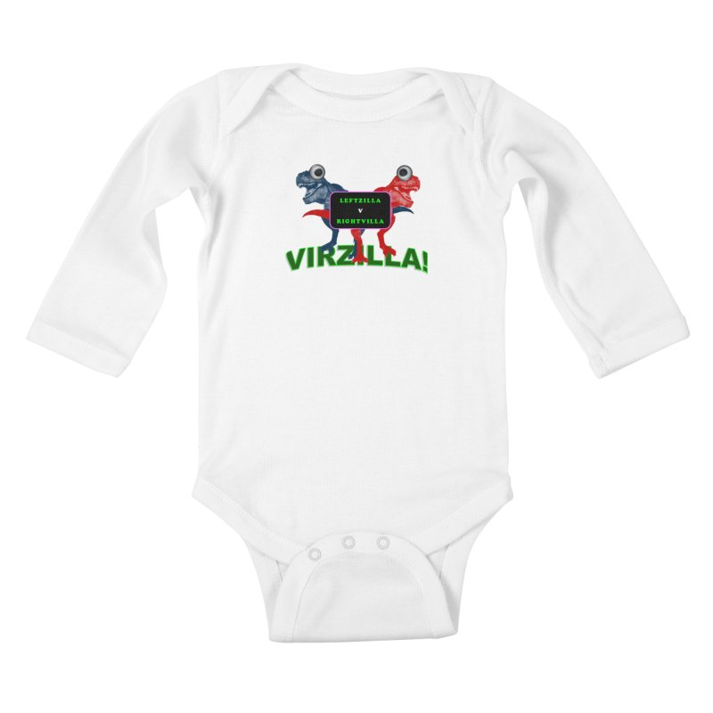 Virzilla Kids Baby Longsleeve Bodysuit by PGMercher  - A Pretty Good Merch Shop