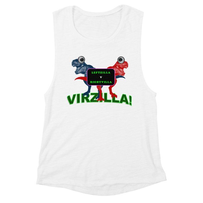 Virzilla Women's Muscle Tank by PGMercher  - A Pretty Good Merch Shop