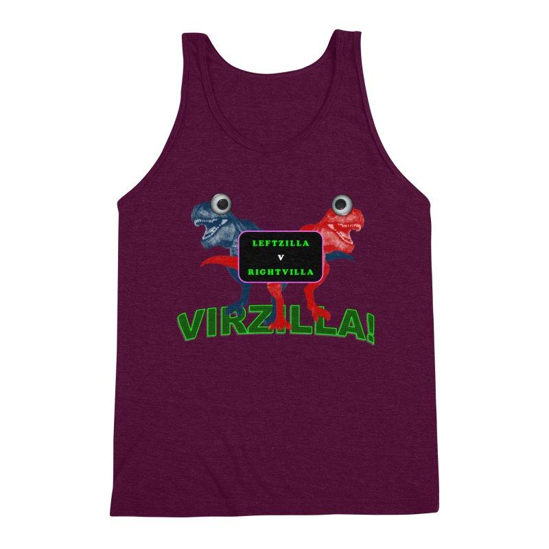 Virzilla Men's Triblend Tank by PGMercher  - A Pretty Good Merch Shop