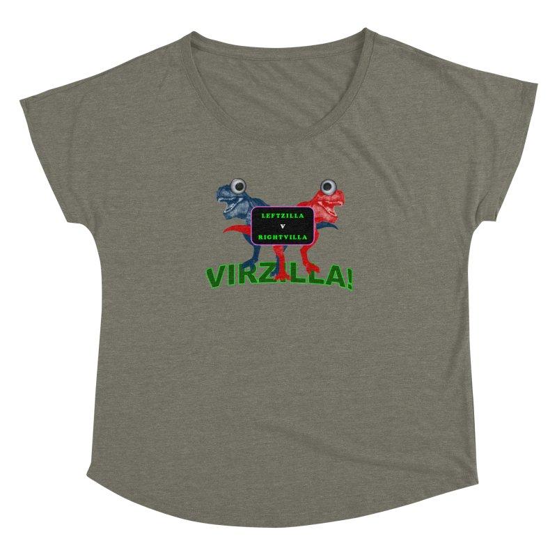 Virzilla Women's Dolman Scoop Neck by PGMercher  - A Pretty Good Merch Shop
