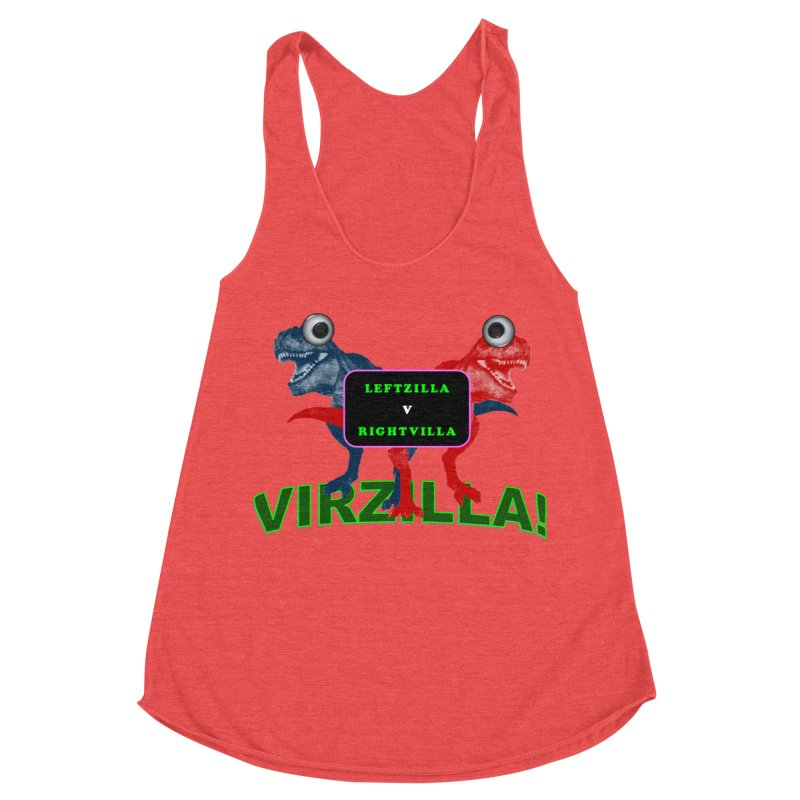 Virzilla Women's Racerback Triblend Tank by PGMercher  - A Pretty Good Merch Shop